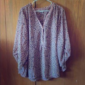 NWOT. Leopard print blouse.